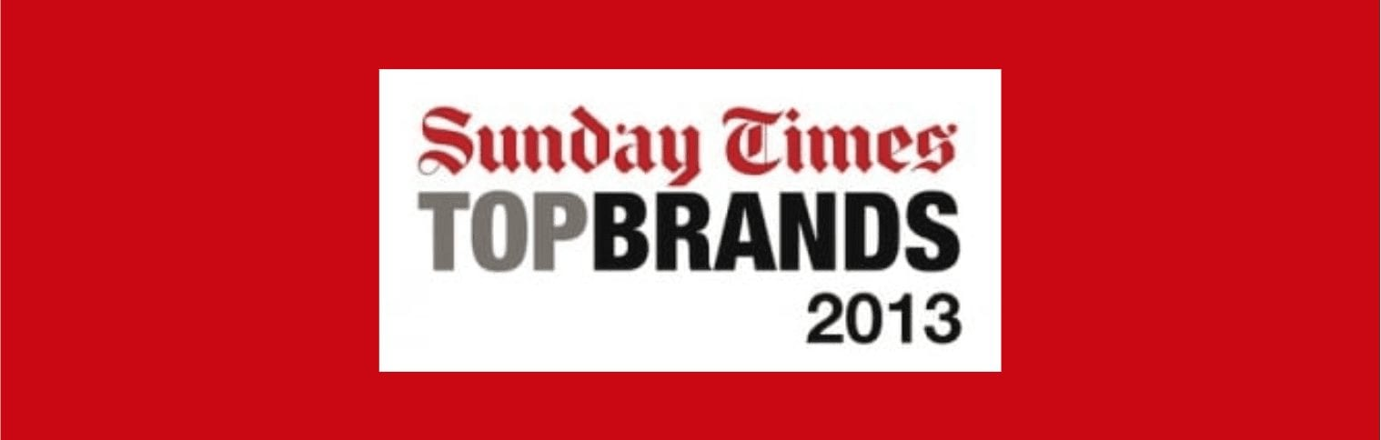eNitiate | Sunday Times Top Brands | 2013