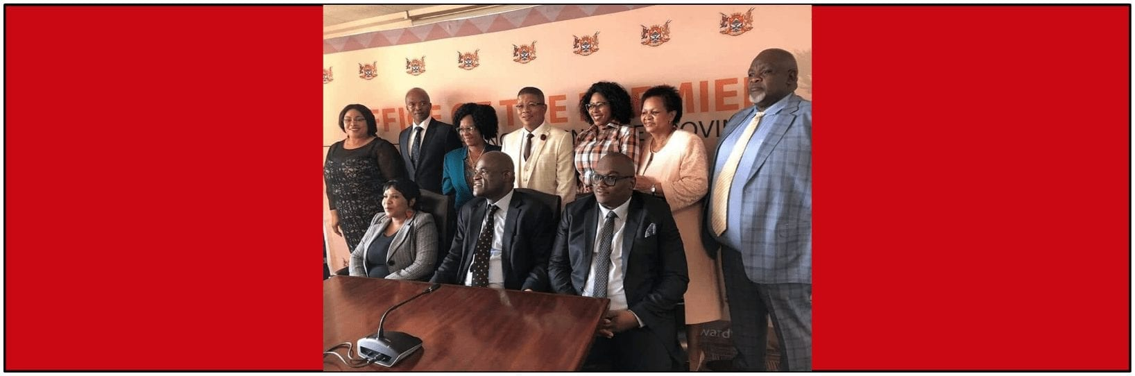 Dr Zamani Saul and his Northern Cape MEC team