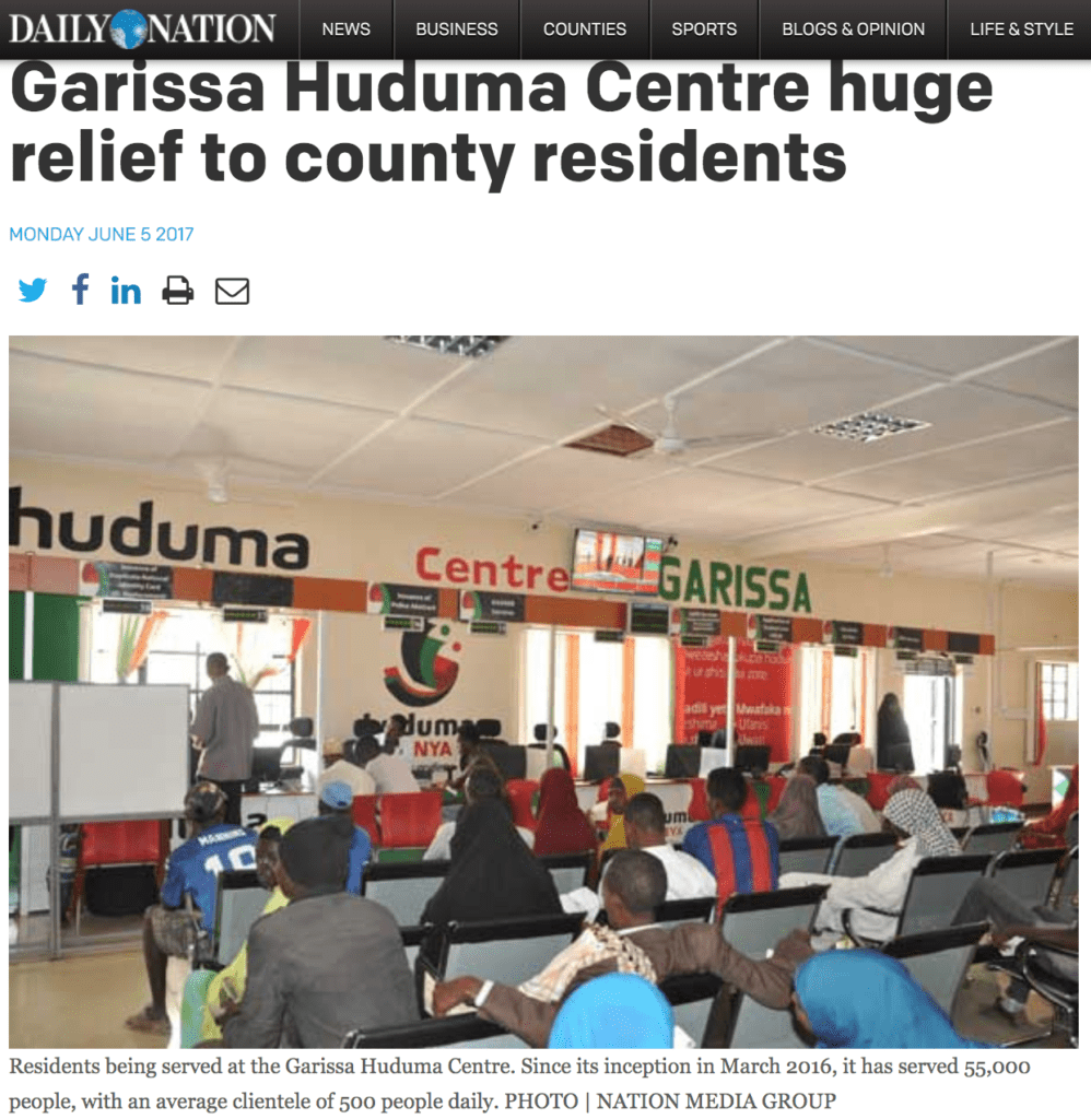 New Nation | Huduma Kenya | 1 Stop Public Service Article | 2017-1