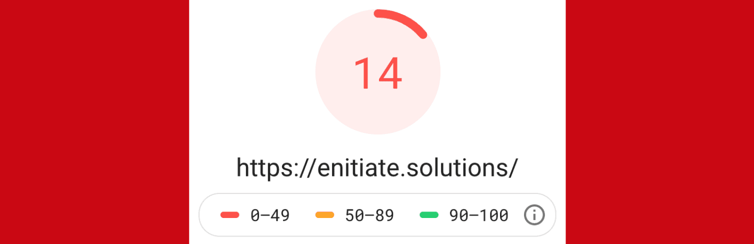 eNitiate Website   Day 4 of 12-day challenge   Google Pagespeed Test for Mobile   9 Apr 2020   Banner